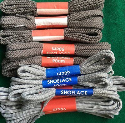 grey shoe laces assorted shoe and boot laces 60 cm 90 cm round flat special