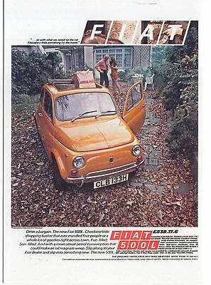 Fiat 500C 1972 MODERN postcard issued by Vintage Ad Gallery