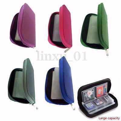 CF Micro SD SDHC MMC Memory Card 22 Holder Storage Carry Pouch Wallet Case Bag