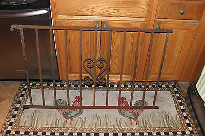 Vintage Wrought Cast Iron Architectural Garden Yard Art Fence Railing-LQQK