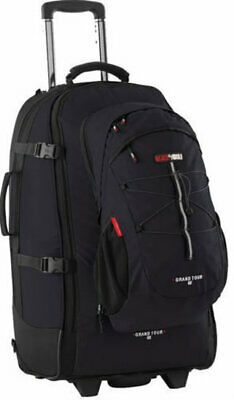 Black Wolf Grand Tour 65L Wheeled Travel Backpack and Daypack - BLACK
