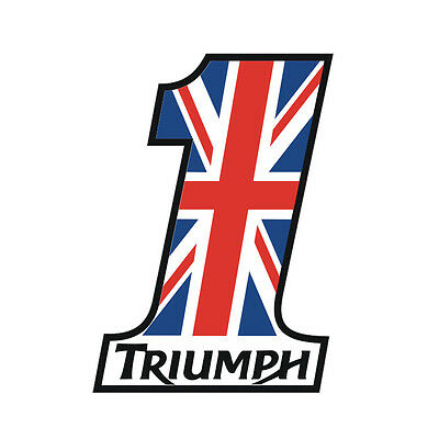 Sticker plastifié NUMBER ONE UNION JACK Triumph Street Speed - 9cm x 6,5cm