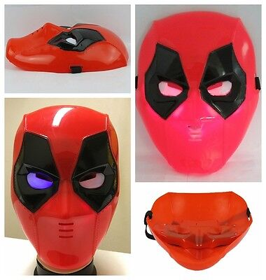 Kids Deadpool Plastic Mask Flashing Lights Superhero Movie MasksXmas gift