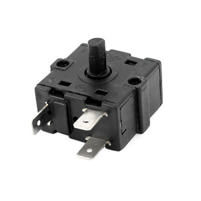 AC 250V 10A 3 Terminals Rotary Switch Electric Heater Selector Black