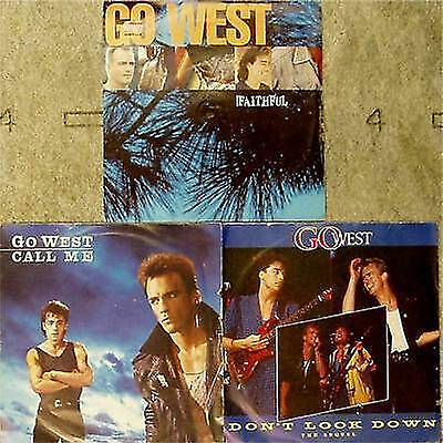 "GO WEST 3 x PICTURE SLEEVE 7"" SINGLES ALL LISTED"