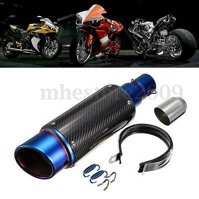 38-51mm Carbon Fiber Moto Exhaust Muffler End Pipe Silencer échappement Tuyaux