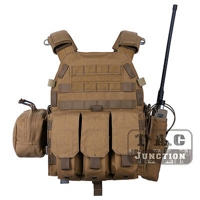 Emerson Tactical Modular LBT-6094A Plate Carrier Vest w/ Pouches Coyote Brown CB
