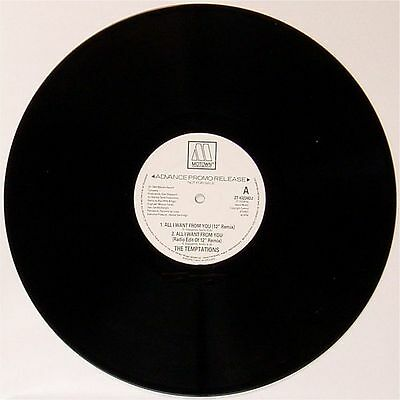 "The Temptations 'all I Want From You' Uk White Label Promo 12"" Single"