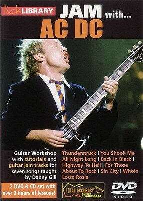 Lick Library: Jam With AC/DC Gitarre CD, 2 x DVD (Region 0)