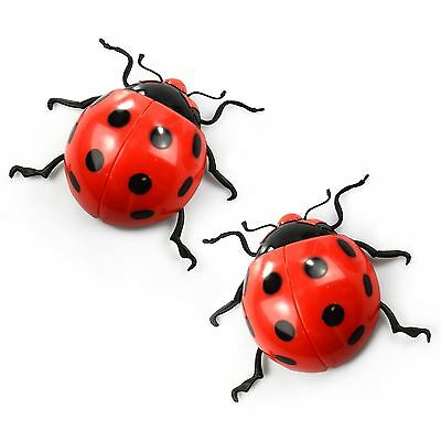New 2x Large Hanging Decorative Ladybirds Garden Wall Ornament Home Outdoor