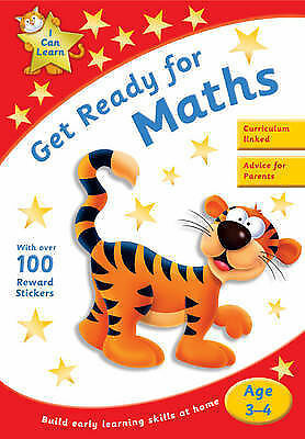 Learn Maths Age 3-4 Activity Sticker Book New