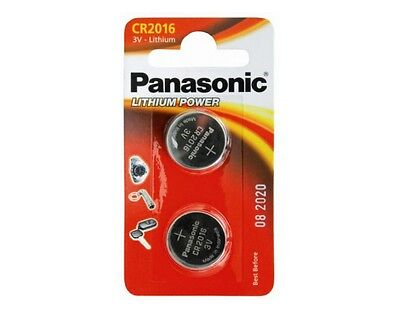 Panasonic CR2016-C2 Power Lithium Coins Cell Battery 1 Card of 2 Cell