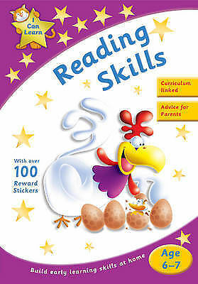 Learn Reading Skills Age 6-7 Activity Sticker Book New