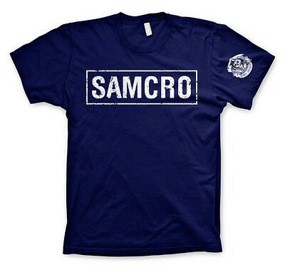 SAMCRO Club Logo Sons Of Anarchy Redwood Original SoA MC Männer Men T-Shirt Navy