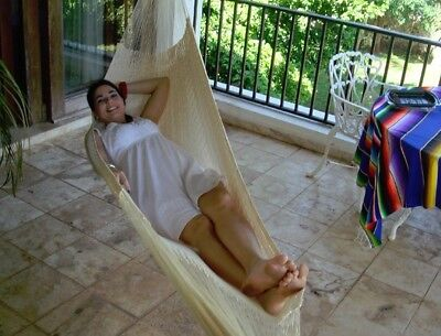 Mayan Hammock, Natural-Colored, Traditional Woven, High Capacity -Multiple Sizes