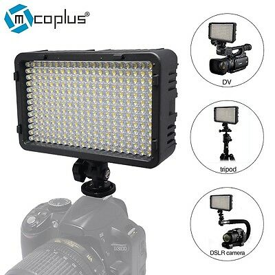 168 Dimmable Portable LED Video Light Lamp Flash for Panasonic Sony JVC Canon