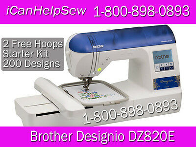"BROTHER Embroidery Machine DZ820 (like PE770) 5""x7""+ BES Lettering Software"