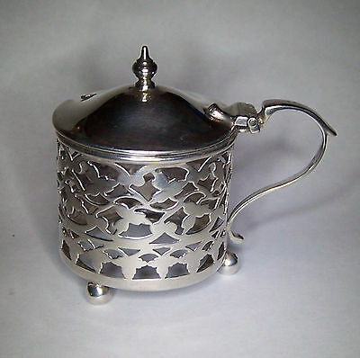 Vintage Sterling Silver Mustard Pot / Salt / Condiment by Marston & Bayliss 1906