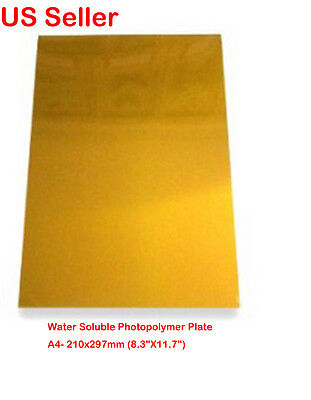 1PC A4 Hot Foil Stamp Water Soluble Photopolymer Plate
