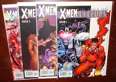 X-Men Search for Cyclops #1-4 COMPLETE SET! Marvel Comics - Avg VF/NM - C01