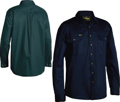 3 Pcs of Bisley Workwear Original 100% Cotton Long Sleeve Drill Shirt (BS6433)
