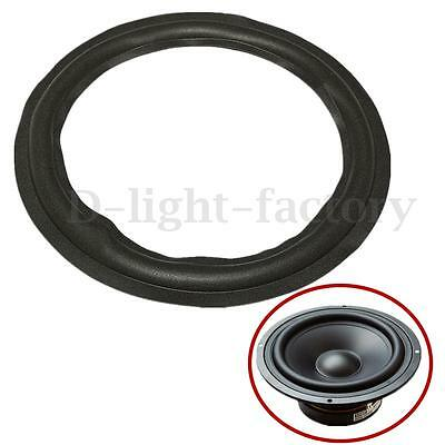 Black 12'' Speaker Surround Decorative Circle Repair Foam For Bass Woofer Horn