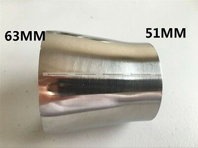 """63MM to 51MM 2.5"""" to 2"""" Sanitary Weld Reducer Pipe Fittings Stainless Steel S8"""
