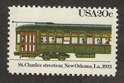 US. 2062. St. Charles Streetcar, New Orleans., 1923. Mint. NH