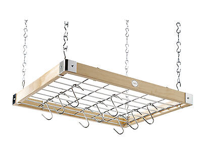 Hahn, Classic, Natural Square Wooden Ceiling Rack, 40293