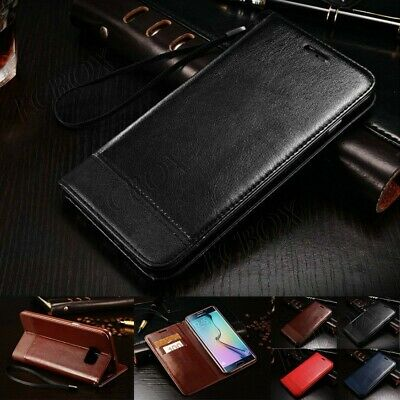 Folio Leather Wallet Case Magnetic Flip Cover For Samsung Galaxy S6 S7 Edge Plus