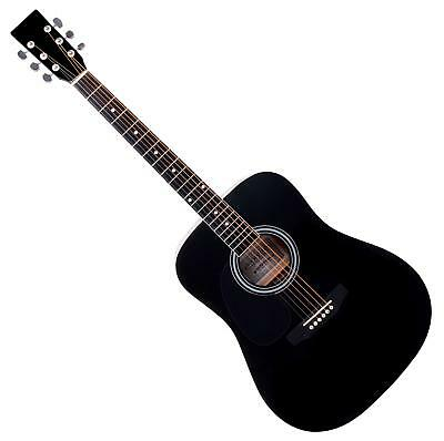 Classic Acoustic Folk Blues Dreadnought Guitar Lefthand 20 Frets 6 Strings Black