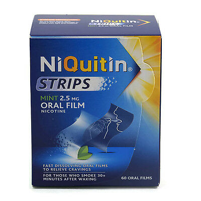 NiQuitin Strips Mint 2.5mg Oral Film Nicotine x 60