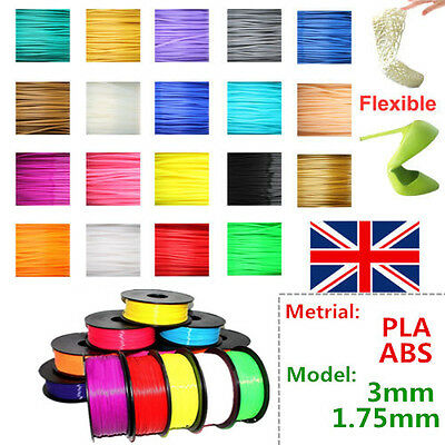 3D-Printer filament ABS/PLA 1.75mm/3.00mm 1 kg for makerbot Huxley leapfrog AY