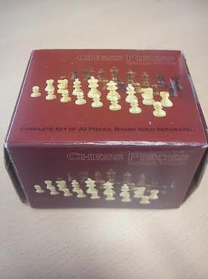 Staunton Chess Pieces in Indian Wood - 2 Inch Chess Pieces