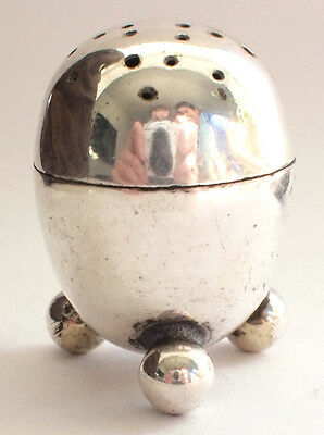 Stunning Antique Solid Stirling Silver 925 Hallmarked Salt Shaker Cute