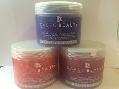 Kaeso Beauty Sugar Body Scrubs 450ml SAME DAY DISPATCH OFFICIAL STOCKISTS