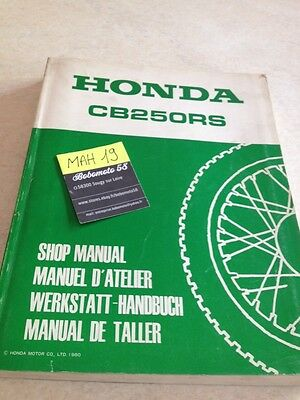 Honda CB250RS CB250 RS CB 250 manuel technique atelier workshop service manual