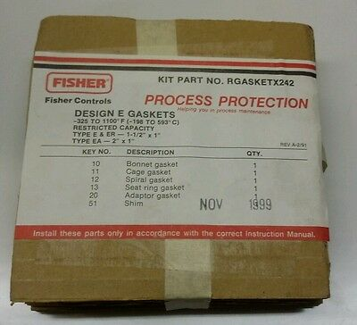 Fisher RGASKETX242 Design E Gaskets NEW