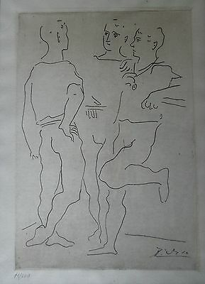 Picasso Pablo Original Copperplate Engraving Signed Lithograph Numbered 1943
