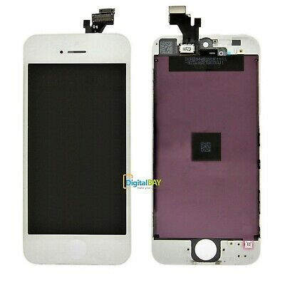Ricambio Lcd Touch Screen Completo Bianco Con Frame Per Iphone 5 5G + Kit