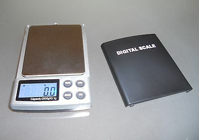 2000g x 0.1g Mini Digital Electronic Weight Scale Jewellery Pocket Gram LCD