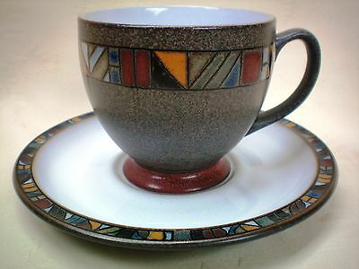 Denby Marrakesh Tea Cup and Saucer Excellent Condition