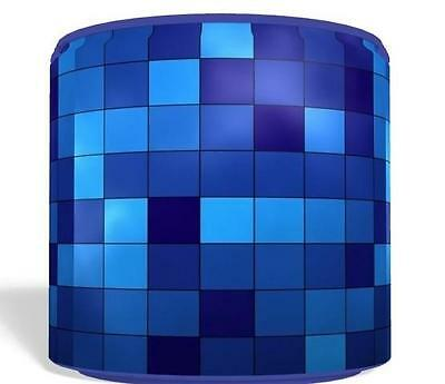 "Blue Pixel Small Light Ceiling Lamp Shade 8"" Nursery Kids Room Gaming Free P&p"