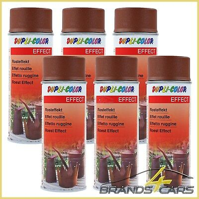 DUPLI COLOR 6x 400ml ROSTEFFEKT-SPRAY EFFEKTSPRAY 383588