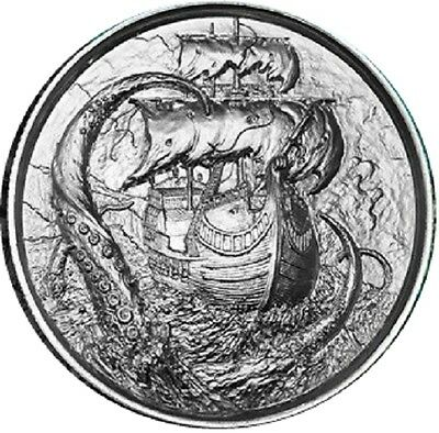 1 x 2 oz silver coin - The Kraken round 99.9% pure