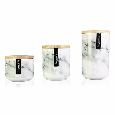 Marble Ceramic Canister Sugar Coffee Tea Container Kitchenware Food Storage Home
