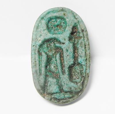 Zurqieh -Q198- Ancient Egypt , Beautiful Faience Seal. 1075 - 600 B.c