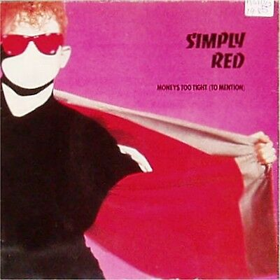 "Simply Red 'money's Too Tight' Uk Picture Sleeve 7"" Single"