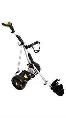 New icaddy pro electric golf trolley cart motorised battery and charger free P&P