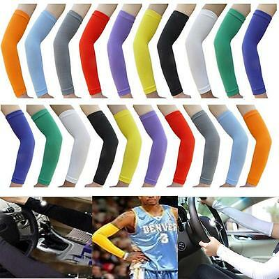 Hot Sport Skin Arm Sleeve UV Cover Sun Protective Stretch Armband Sleeves